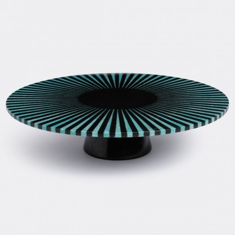 Amazonite stripe platter