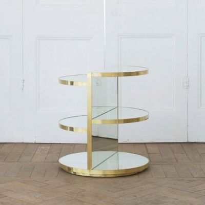 Invisible Mirror Sculpture Side Table