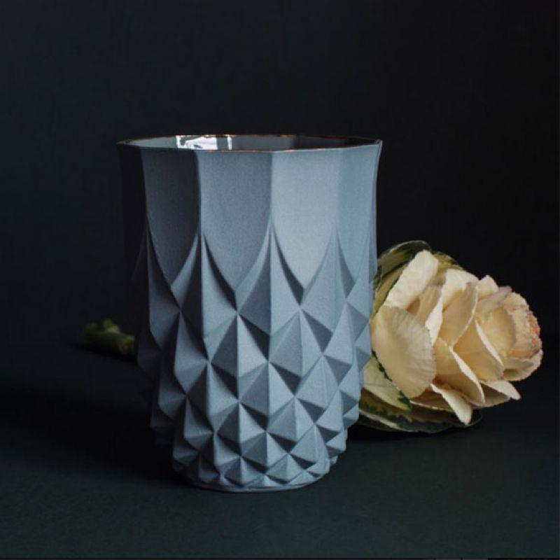 Vase Pineapple Gold Rim