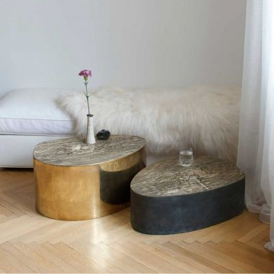 ALBEO BRASS COFFEE TABLE