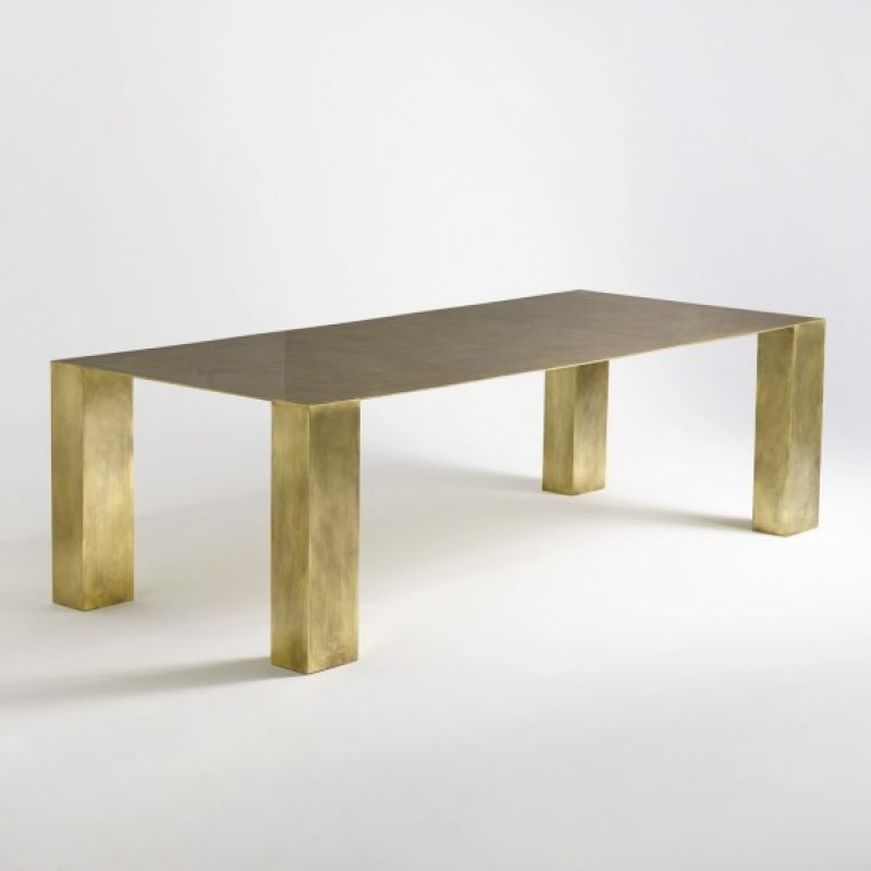Brass diing table