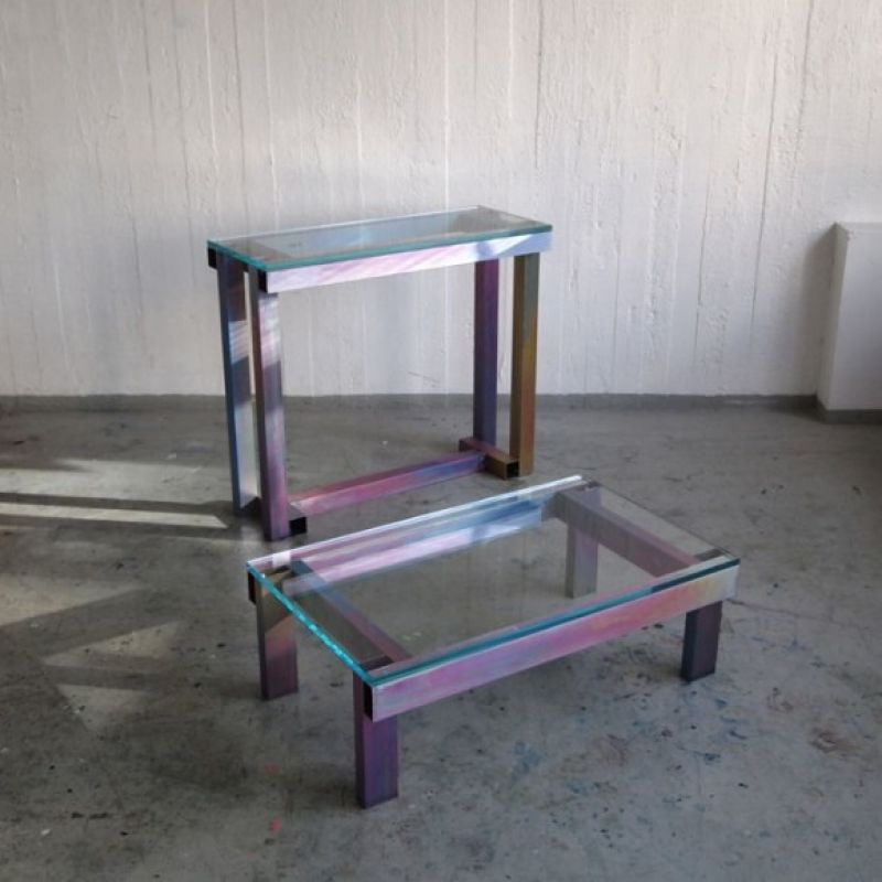 Anodized tables