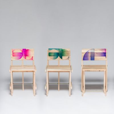Patterned Pallet Chair